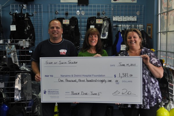 Sink or Swim Scuba Donates