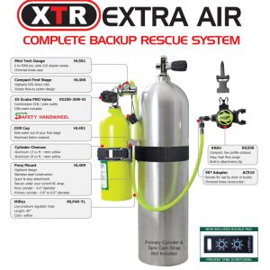 XTR Extra Air System, spare air, bail out bottle, nanaimo